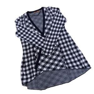 Belldini Gingham Open Cardigan, Size XL